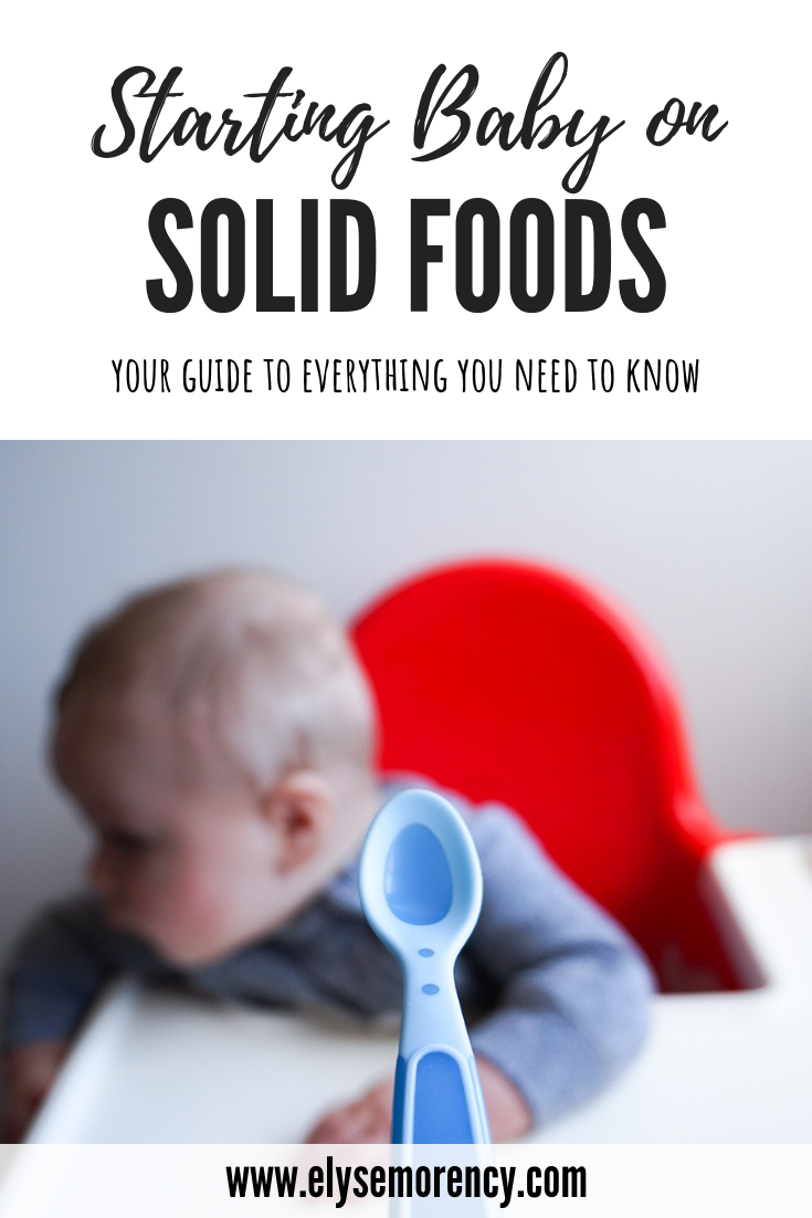 Starting Baby on Solid Foods. Your Guide To Everything You Need To Know! - Elyse Morency: Motherhood & Beauty Blog