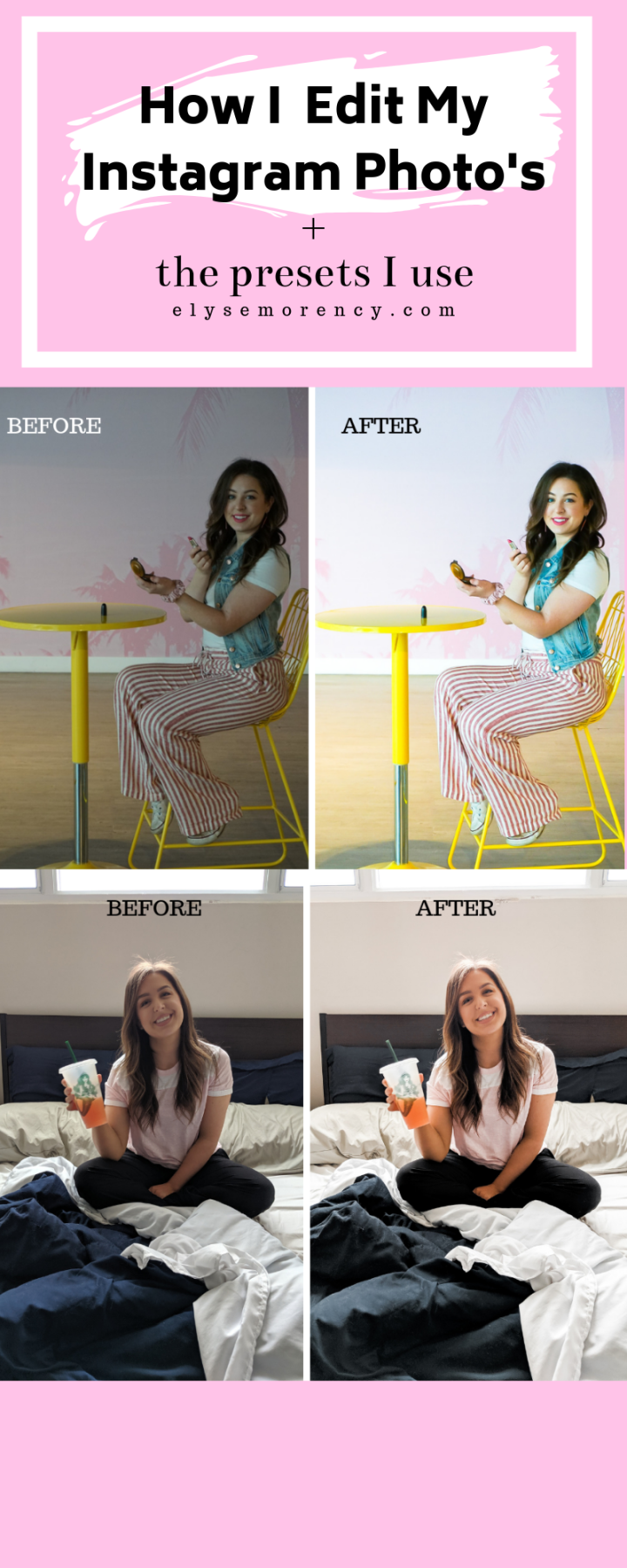 Bright and colourful Lightroom Instagram Preset for lifestyle bloggers and instagram
